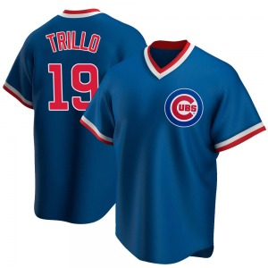 Men's Chicago Cubs Manny Trillo Royal Road Cooperstown Collection Jersey - Replica