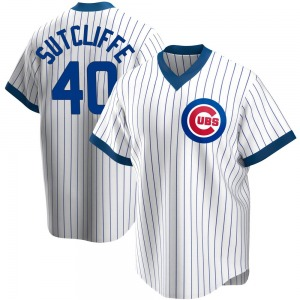 Youth Chicago Cubs Rick Sutcliffe White Home Cooperstown Collection Jersey - Replica