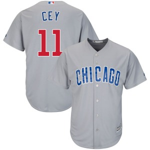 Men's Majestic Chicago Cubs Ron Cey Gray Cool Base Road Jersey - Authentic