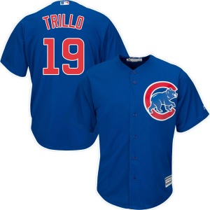 Youth Majestic Chicago Cubs Manny Trillo Royal Cool Base Alternate Jersey - Authentic