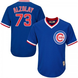 Men's Majestic Chicago Cubs Adbert Alzolay Royal Blue Cool Base Cooperstown Collection Jersey - Replica