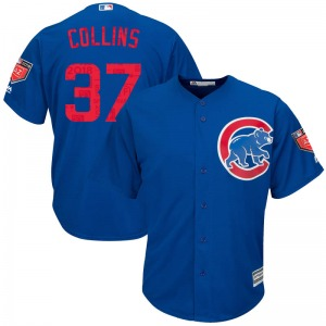 Youth Majestic Chicago Cubs Tim Collins Royal Cool Base 2018 Spring Training Jersey - Replica