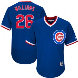 Men's Majestic Chicago Cubs Billy Williams Royal Blue Flexbase Collection Cooperstown Jersey - Authentic