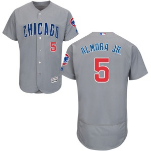 Youth Majestic Chicago Cubs Albert Almora Jr. Gray Road Flex Base Collection Jersey - Replica